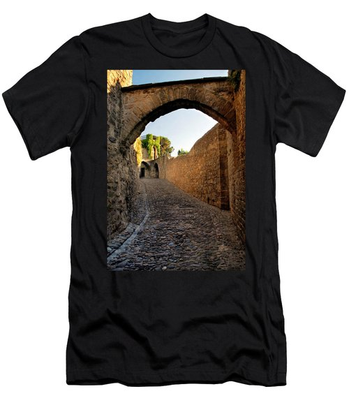 Men's T-Shirt (Slim Fit) featuring the photograph Pathway Through Gordes France by Dave Mills