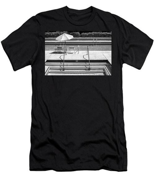 Peaceful Oasis Bw Palm Springs Men's T-Shirt (Athletic Fit)