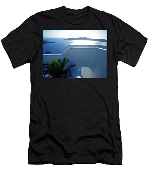 Peaceful Sunset Santorini Men's T-Shirt (Athletic Fit)