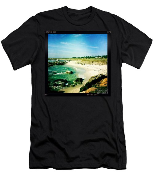 Men's T-Shirt (Slim Fit) featuring the photograph Pebble Beach by Nina Prommer