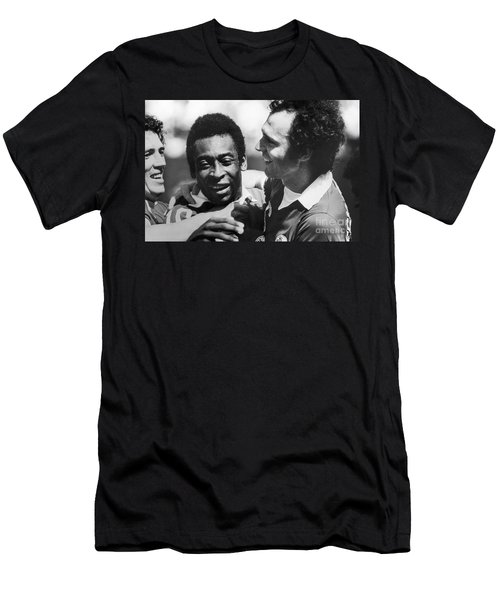 Pele & Beckenbauer, C1977 Men's T-Shirt (Slim Fit) by Granger