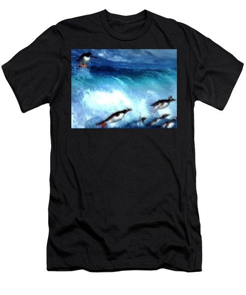 Penquin Play Men's T-Shirt (Athletic Fit)