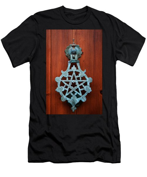 Pentagram Knocker Men's T-Shirt (Athletic Fit)