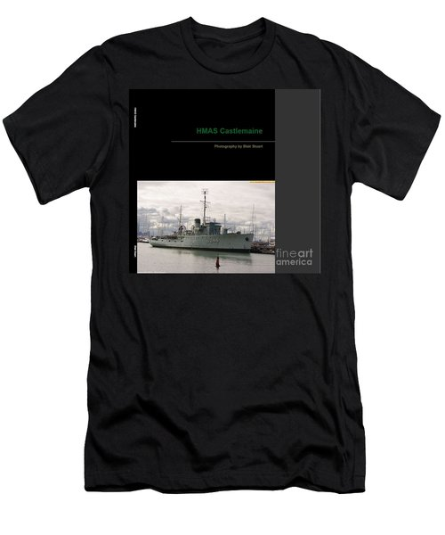 Men's T-Shirt (Slim Fit) featuring the mixed media Photobook On Hmas Castlemaine by Blair Stuart