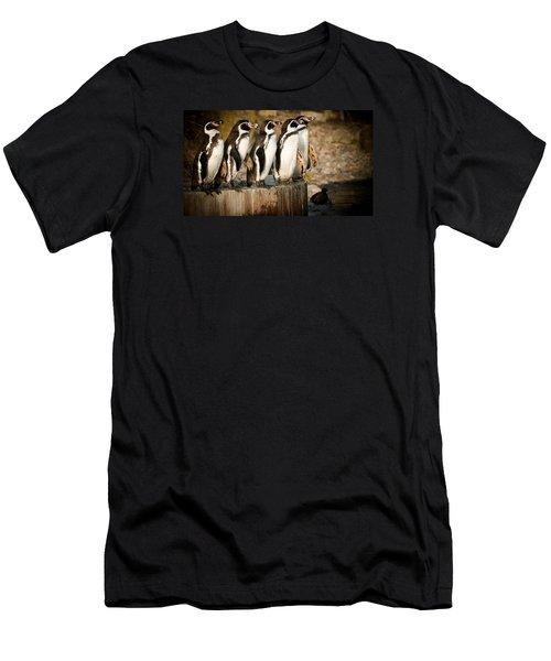 Pick Up A Penguin Men's T-Shirt (Athletic Fit)