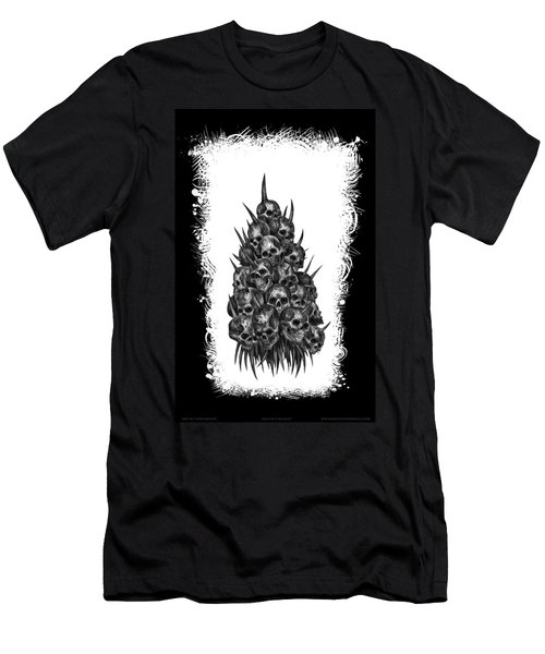 Pile Of Skulls Men's T-Shirt (Slim Fit) by Tony Koehl