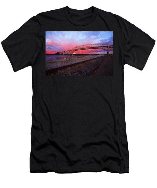 Men's T-Shirt (Slim Fit) featuring the photograph Pink And Blue by Gordon Dean II