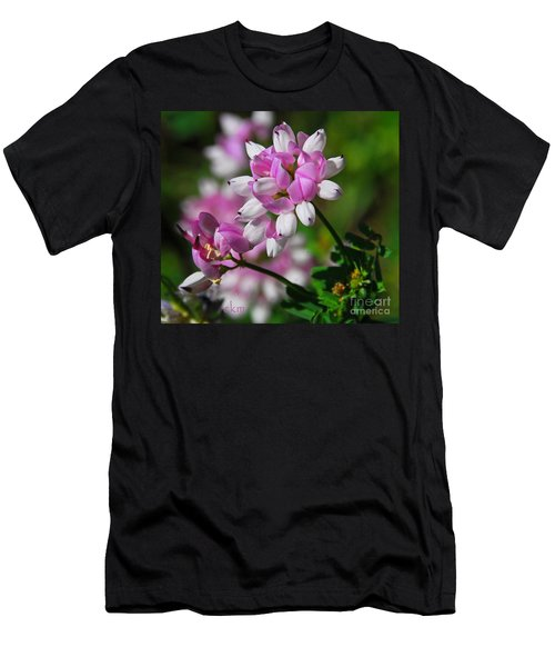 Men's T-Shirt (Slim Fit) featuring the photograph Pink And White by Cindy Manero