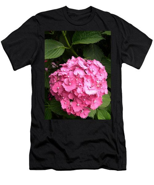 Men's T-Shirt (Slim Fit) featuring the digital art Pink Hydranga by Claude McCoy