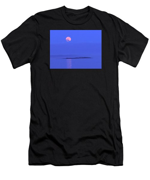 Pink May Moon Men's T-Shirt (Athletic Fit)