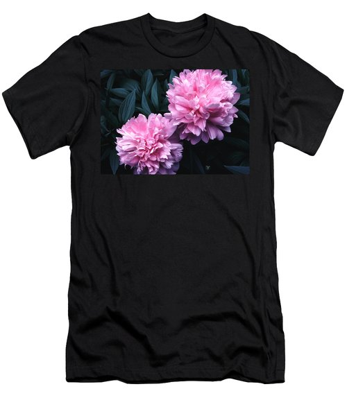 Pink Peony Pair Men's T-Shirt (Athletic Fit)