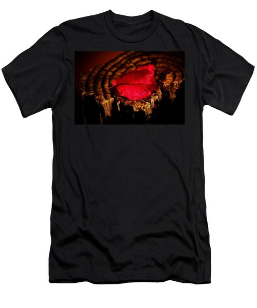 Men's T-Shirt (Slim Fit) featuring the photograph Pink Petal by Jessica Shelton