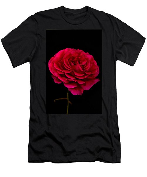 Men's T-Shirt (Slim Fit) featuring the photograph Pink Rose by Steve Purnell