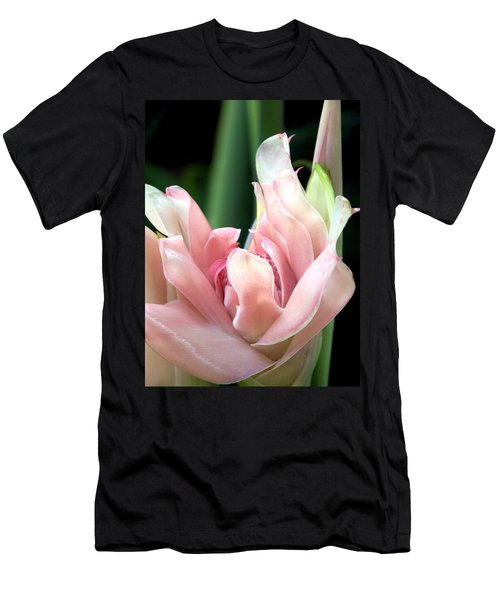Pink Torch Ginger Men's T-Shirt (Slim Fit) by Jocelyn Kahawai