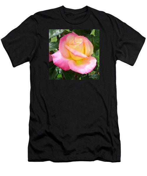 Pink Yellow Beauty Men's T-Shirt (Slim Fit) by Tanya  Searcy
