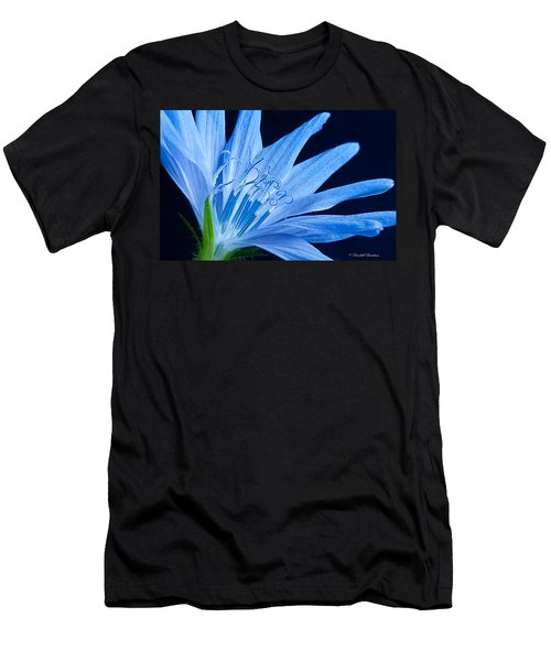 Men's T-Shirt (Slim Fit) featuring the photograph Pistil's Of Chicory by Randall Branham