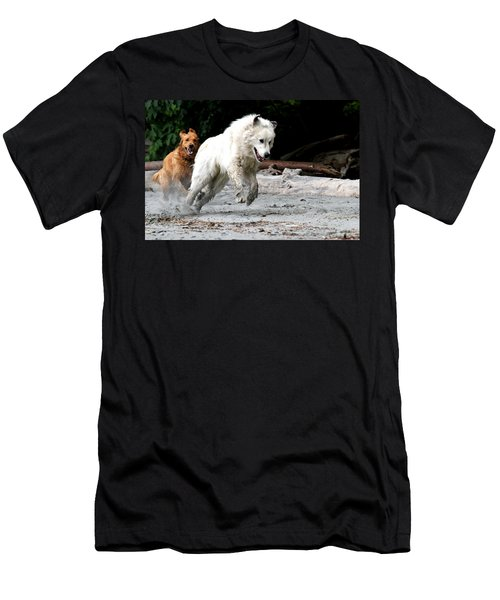 Play Time On The Beach Men's T-Shirt (Athletic Fit)