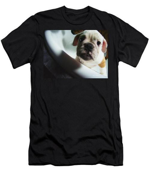 Men's T-Shirt (Slim Fit) featuring the photograph Plea For Help by Jeanette C Landstrom