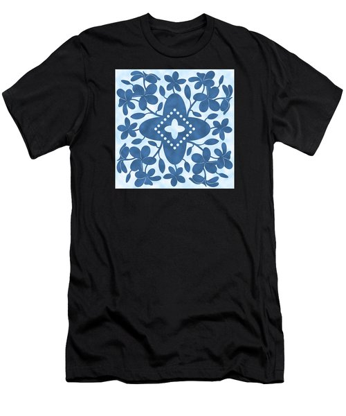 Plumeria Hawaiian Quilt Block Men's T-Shirt (Athletic Fit)