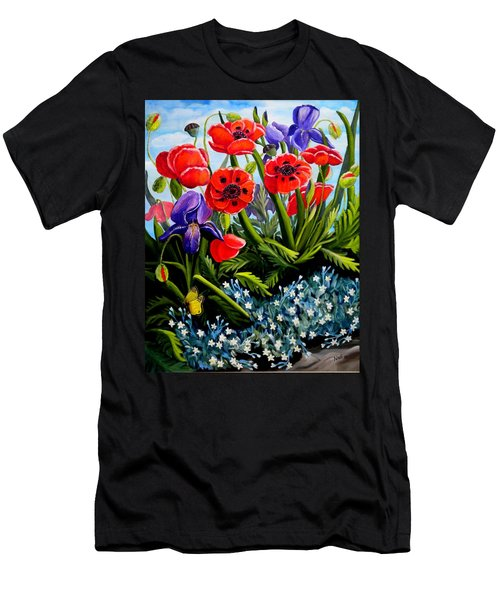 Poppies And Irises Men's T-Shirt (Athletic Fit)