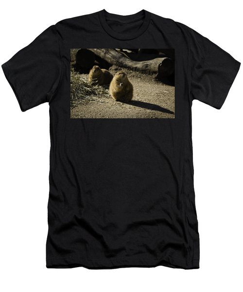 Prairie Dog Sees The Shadow Men's T-Shirt (Athletic Fit)