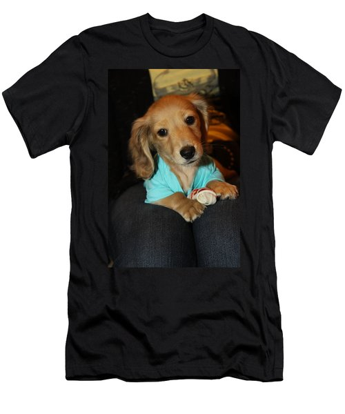 Precious Puppy Men's T-Shirt (Athletic Fit)