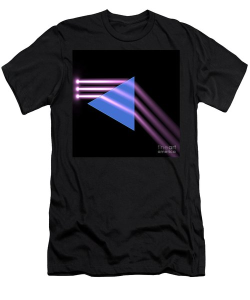 Men's T-Shirt (Slim Fit) featuring the digital art Prism 1 by Russell Kightley