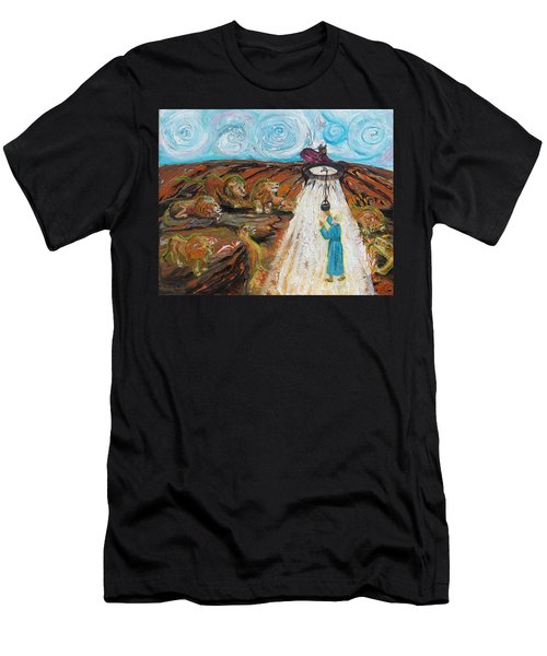 Prophetic Message Sketch 15 Daniel The Lion's Den And The Whirlwind Men's T-Shirt (Athletic Fit)