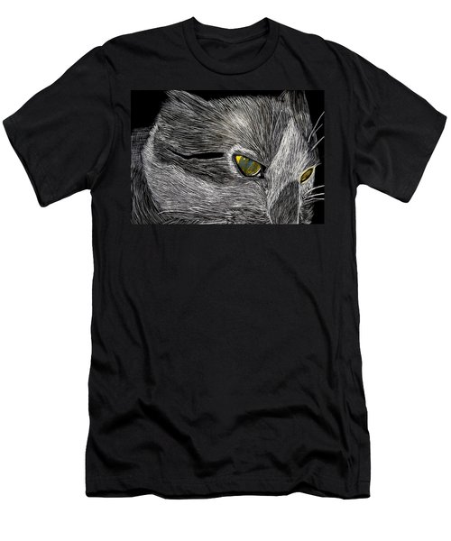 Men's T-Shirt (Slim Fit) featuring the drawing Prowl by Lisa Brandel