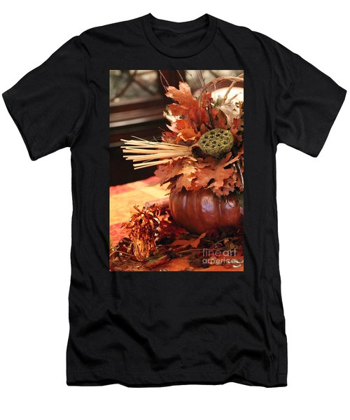 Pumpkin Leaf Decor Men's T-Shirt (Athletic Fit)