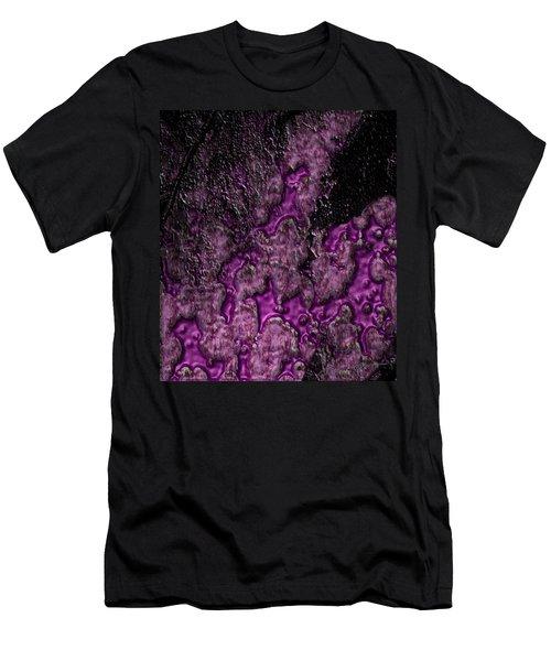 Purple Burning Men's T-Shirt (Athletic Fit)