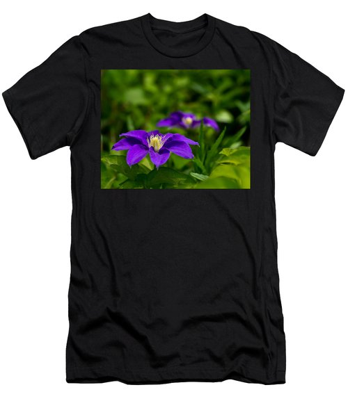Purple Clematis Flower Men's T-Shirt (Athletic Fit)