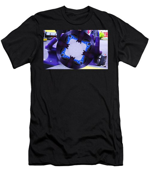 Purple Magic Fingers Chair Men's T-Shirt (Slim Fit) by Kym Backland