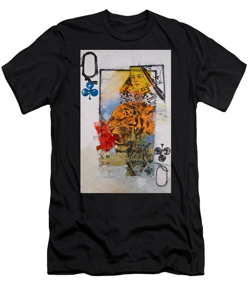 Queen Of Clubs 4-52  2nd Series  Men's T-Shirt (Athletic Fit)