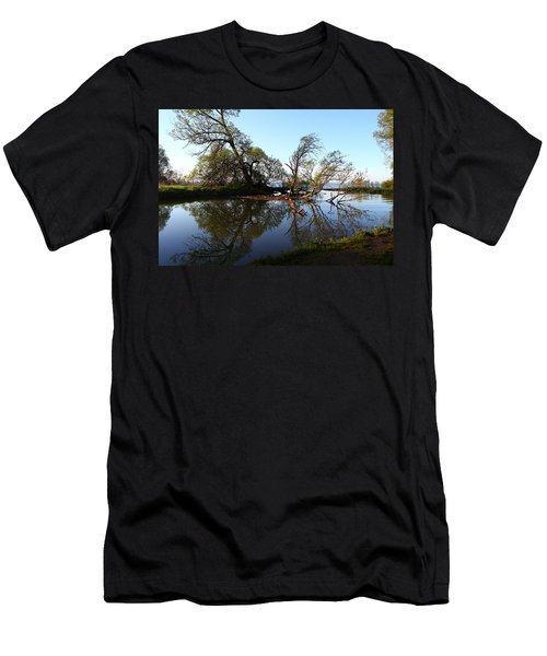 Quiet Reflection Men's T-Shirt (Slim Fit) by Davandra Cribbie