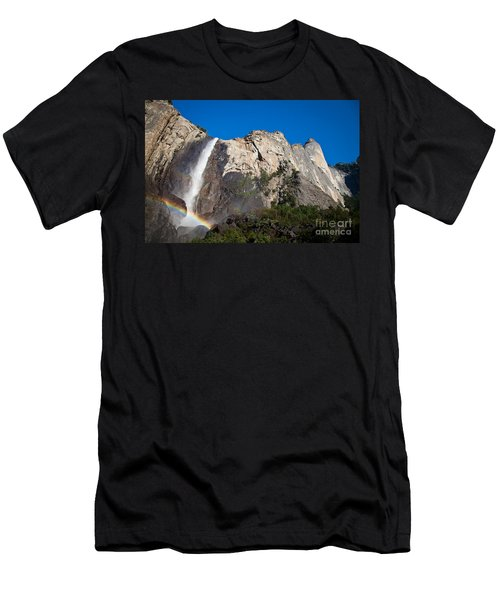 Rainbow On Bridalveil Fall Men's T-Shirt (Athletic Fit)