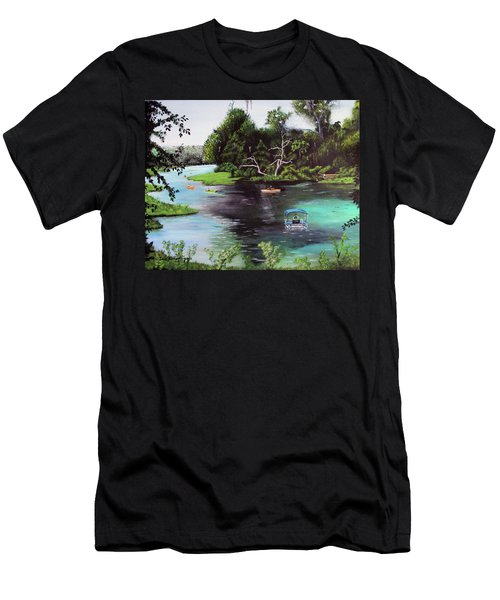Rainbow Springs In Florida Men's T-Shirt (Slim Fit) by Luis F Rodriguez