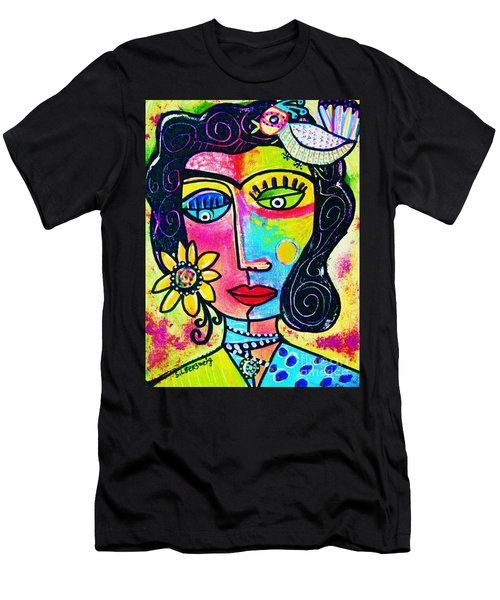 Rainbow Sunshine Frida Men's T-Shirt (Athletic Fit)