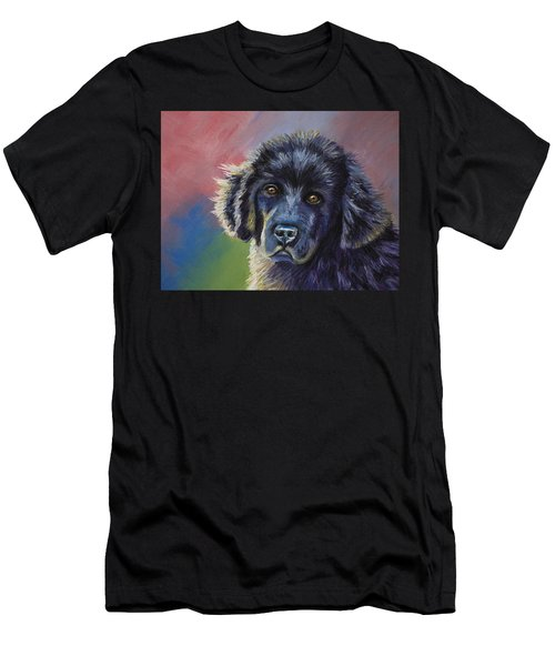 Rainbows And Sunshine - Newfoundland Puppy Men's T-Shirt (Athletic Fit)
