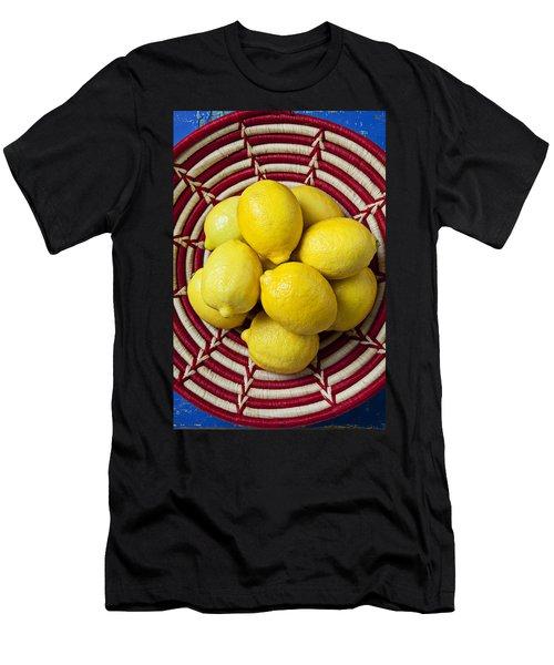 Red And White Basket Full Of Lemons Men's T-Shirt (Athletic Fit)
