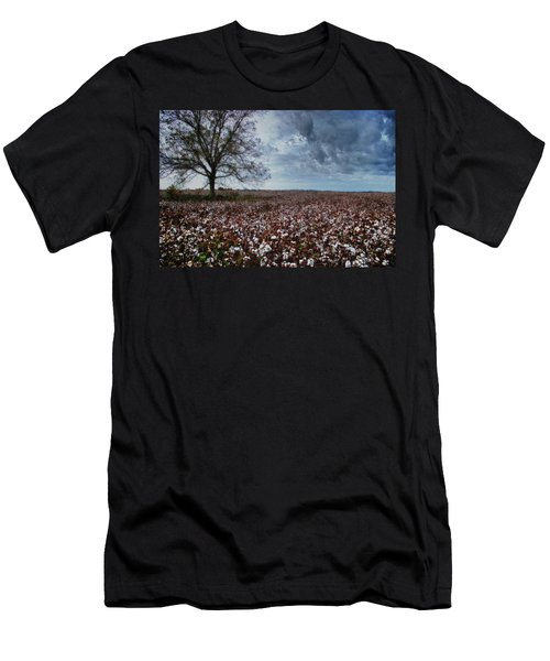 Red Cotton And The Tree Men's T-Shirt (Slim Fit) by Michael Thomas