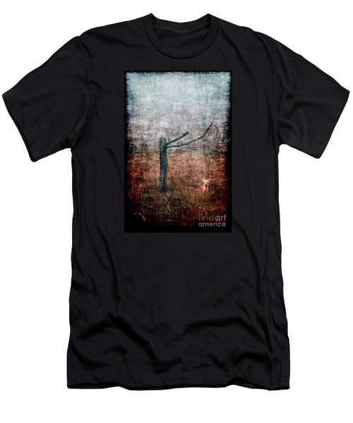 Men's T-Shirt (Slim Fit) featuring the photograph Red Fox Under Tree by Dan Friend