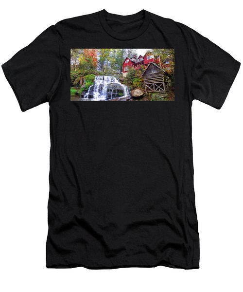 Red House By The Waterfall 2 Men's T-Shirt (Athletic Fit)