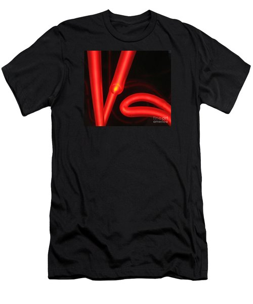 Red Neon Men's T-Shirt (Athletic Fit)