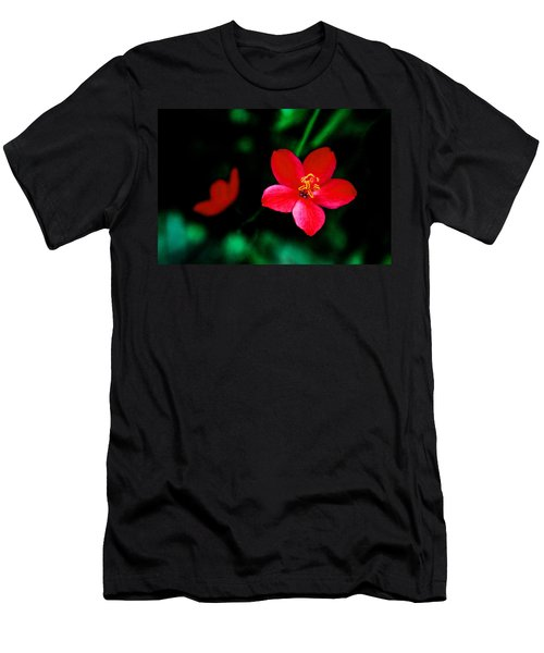 Red Petaled Dream Men's T-Shirt (Athletic Fit)