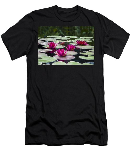 Red Water Lillies Men's T-Shirt (Athletic Fit)