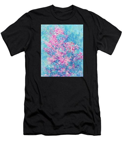 Men's T-Shirt (Athletic Fit) featuring the painting Redbud Special by Nancy Cupp
