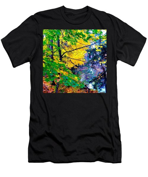 Reed College Canyon Fall Leaves II Men's T-Shirt (Athletic Fit)
