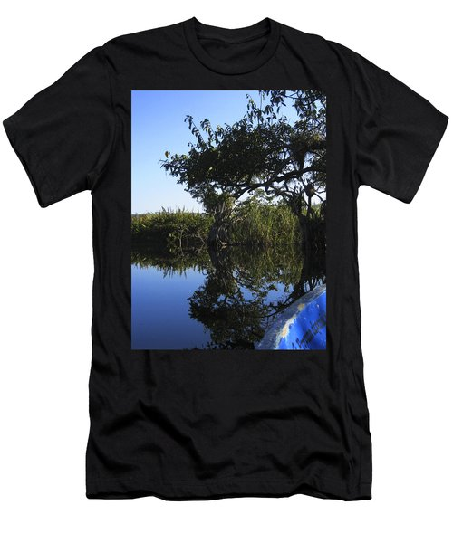 Reflection Of Arched Branches Men's T-Shirt (Slim Fit) by Anne Mott
