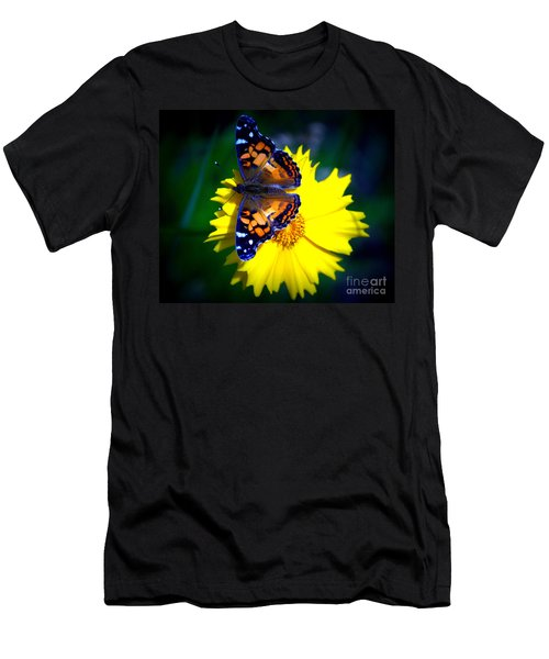 Resting Butterfly Men's T-Shirt (Slim Fit) by Kevin Fortier